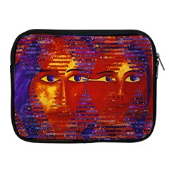 Conundrum Iii, Abstract Purple & Orange Goddess Apple Ipad 2/3/4 Zipper Cases by DianeClancy