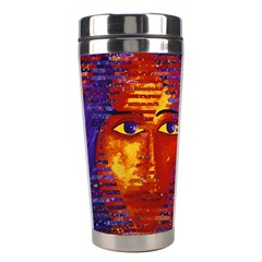 Conundrum Iii, Abstract Purple & Orange Goddess Stainless Steel Travel Tumblers by DianeClancy