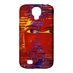 Conundrum Iii, Abstract Purple & Orange Goddess Samsung Galaxy S4 Classic Hardshell Case (pc+silicone) by DianeClancy