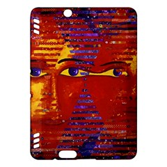 Conundrum Iii, Abstract Purple & Orange Goddess Kindle Fire Hdx Hardshell Case by DianeClancy