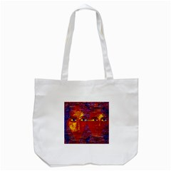 Conundrum Iii, Abstract Purple & Orange Goddess Tote Bag (white) by DianeClancy