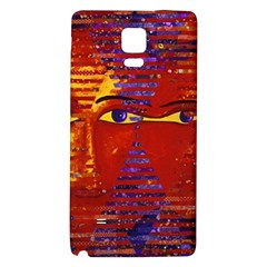 Conundrum Iii, Abstract Purple & Orange Goddess Galaxy Note 4 Back Case by DianeClancy