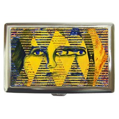 Conundrum Ii, Abstract Golden & Sapphire Goddess Cigarette Money Cases