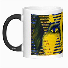 Conundrum Ii, Abstract Golden & Sapphire Goddess Morph Mugs by DianeClancy