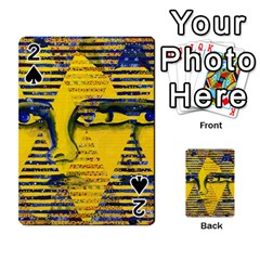 Conundrum Ii, Abstract Golden & Sapphire Goddess Playing Cards 54 Designs
