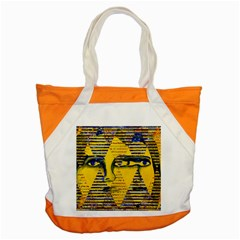 Conundrum Ii, Abstract Golden & Sapphire Goddess Accent Tote Bag by DianeClancy