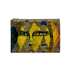 Conundrum Ii, Abstract Golden & Sapphire Goddess Cosmetic Bag (medium)  by DianeClancy