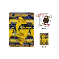 Conundrum Ii, Abstract Golden & Sapphire Goddess Playing Cards (mini)  by DianeClancy