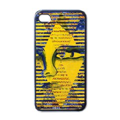 Conundrum Ii, Abstract Golden & Sapphire Goddess Apple Iphone 4 Case (black) by DianeClancy