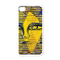 Conundrum Ii, Abstract Golden & Sapphire Goddess Apple Iphone 4 Case (white) by DianeClancy