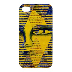 Conundrum Ii, Abstract Golden & Sapphire Goddess Apple Iphone 4/4s Hardshell Case by DianeClancy