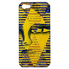Conundrum Ii, Abstract Golden & Sapphire Goddess Apple Iphone 5 Hardshell Case by DianeClancy