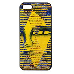 Conundrum Ii, Abstract Golden & Sapphire Goddess Apple Iphone 5 Seamless Case (black) by DianeClancy