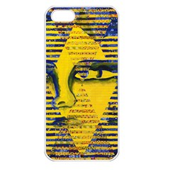 Conundrum Ii, Abstract Golden & Sapphire Goddess Apple Iphone 5 Seamless Case (white) by DianeClancy