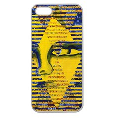 Conundrum Ii, Abstract Golden & Sapphire Goddess Apple Seamless Iphone 5 Case (clear) by DianeClancy