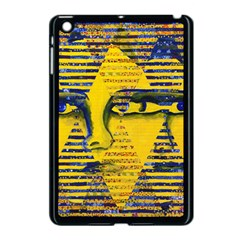Conundrum Ii, Abstract Golden & Sapphire Goddess Apple Ipad Mini Case (black) by DianeClancy