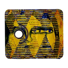 Conundrum Ii, Abstract Golden & Sapphire Goddess Samsung Galaxy S  Iii Flip 360 Case by DianeClancy