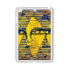 Conundrum Ii, Abstract Golden & Sapphire Goddess Ipad Mini 2 Enamel Coated Cases by DianeClancy