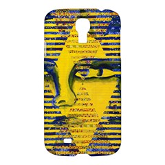 Conundrum Ii, Abstract Golden & Sapphire Goddess Samsung Galaxy S4 I9500/i9505 Hardshell Case by DianeClancy