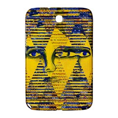Conundrum Ii, Abstract Golden & Sapphire Goddess Samsung Galaxy Note 8 0 N5100 Hardshell Case  by DianeClancy