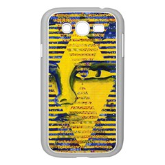 Conundrum Ii, Abstract Golden & Sapphire Goddess Samsung Galaxy Grand Duos I9082 Case (white) by DianeClancy