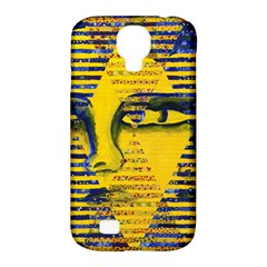 Conundrum Ii, Abstract Golden & Sapphire Goddess Samsung Galaxy S4 Classic Hardshell Case (pc+silicone) by DianeClancy