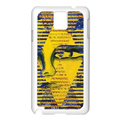 Conundrum Ii, Abstract Golden & Sapphire Goddess Samsung Galaxy Note 3 N9005 Case (white) by DianeClancy