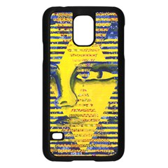 Conundrum Ii, Abstract Golden & Sapphire Goddess Samsung Galaxy S5 Case (black) by DianeClancy
