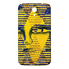 Conundrum Ii, Abstract Golden & Sapphire Goddess Samsung Galaxy Mega I9200 Hardshell Back Case by DianeClancy