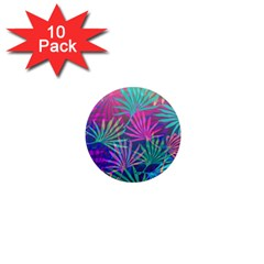 Colored Palm Leaves Background 1  Mini Magnet (10 Pack)  by TastefulDesigns