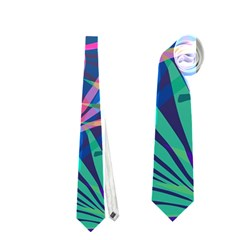Colored Palm Leaves Background Neckties (one Side)