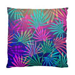 Colored Palm Leaves Background Standard Cushion Case (two Sides) by TastefulDesigns