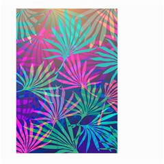 Colored Palm Leaves Background Large Garden Flag (two Sides) by TastefulDesigns