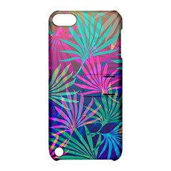 Colored Palm Leaves Background Apple Ipod Touch 5 Hardshell Case With Stand by TastefulDesigns