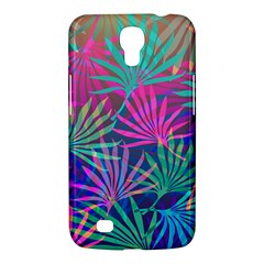 Colored Palm Leaves Background Samsung Galaxy Mega 6 3  I9200 Hardshell Case by TastefulDesigns