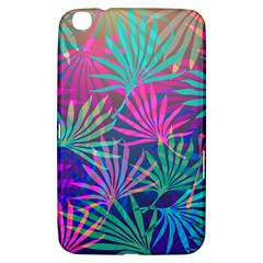 Colored Palm Leaves Background Samsung Galaxy Tab 3 (8 ) T3100 Hardshell Case  by TastefulDesigns