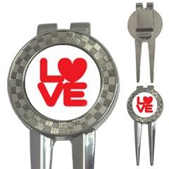 Love (01) Golf Pitchfork & Ball Marker by gooddeed