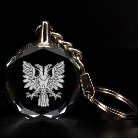 Engraved 2 Headed Eagle By Rd   3d Engraving Circle Key Chain   98phujf2plcp   Www Artscow Com Front