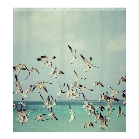 Seagulls :  Shower Curtain Template Preset Formatted For Product: Shower Curtain By Pamela Sue Goforth 58.75 x64.8  Curtain