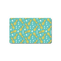 Summer Pineapples Fruit Pattern Magnet (name Card)