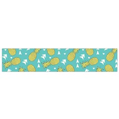Summer Pineapples Fruit Pattern Flano Scarf (small) by TastefulDesigns