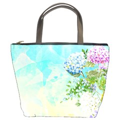 Watercolor Fresh Flowery Background Bucket Bags by TastefulDesigns