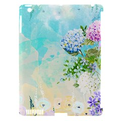 Watercolor Fresh Flowery Background Apple Ipad 3/4 Hardshell Case (compatible With Smart Cover) by TastefulDesigns
