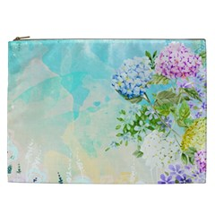 Watercolor Fresh Flowery Background Cosmetic Bag (xxl)  by TastefulDesigns
