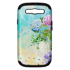 Watercolor Fresh Flowery Background Samsung Galaxy S Iii Hardshell Case (pc+silicone) by TastefulDesigns