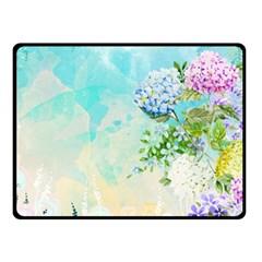 Watercolor Fresh Flowery Background Double Sided Fleece Blanket (small)  by TastefulDesigns
