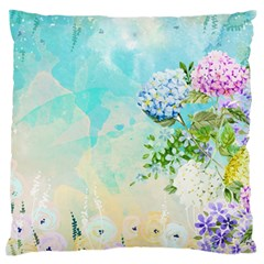 Watercolor Fresh Flowery Background Standard Flano Cushion Case (one Side) by TastefulDesigns