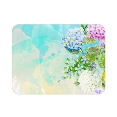 Watercolor Fresh Flowery Background Double Sided Flano Blanket (mini)