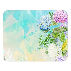 Watercolor Fresh Flowery Background Double Sided Flano Blanket (large)  by TastefulDesigns