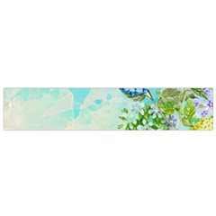 Watercolor Fresh Flowery Background Flano Scarf (small) by TastefulDesigns